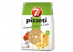 7Days pizzeti, emmental, tomaat, knoflook