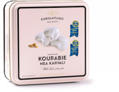 Chrisanthidis kourabie met amandelen in metal box 450g