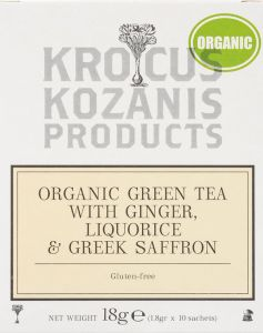 Saffraan BIO thee with Green thea, Ginger & Liquorice